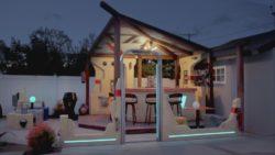 Bar using Light Tape for backlighting featured on Backyard Bar Wars